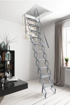 Fantozzi Alluminio Concertina Loft Ladder