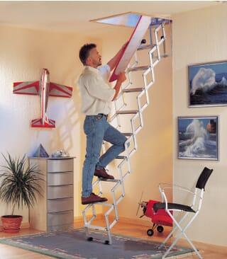 Dolle Alufix Concertina Loft Ladder