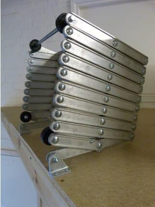 Dolle Alufix Vertical Concertina Loft Ladder - Stored position