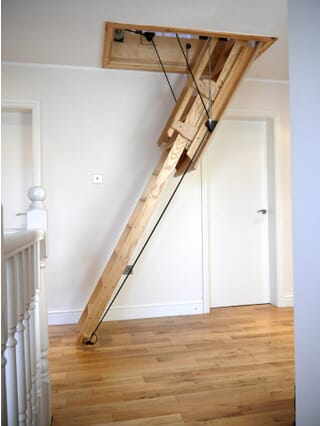 Balmoral Electric Sliding Wooden Stairway