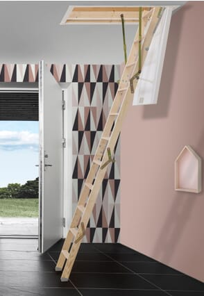 Dolle ClickFix Mini Timber Folding Loft Ladder (925 x 700mm)