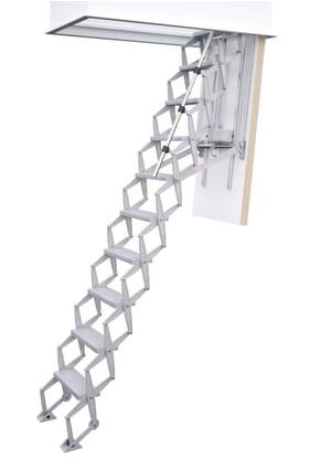 Columbus Electric Aluminium Concertina Loft Ladder
