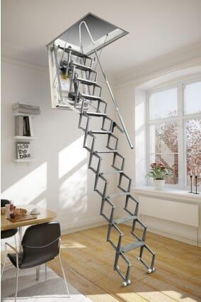 Fantozzi Elettrico Aluminium Concertina Loft Ladder