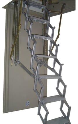 Columbus Exclusive Fire Rated Concertina Loft Ladder (Steel Hatchbox)