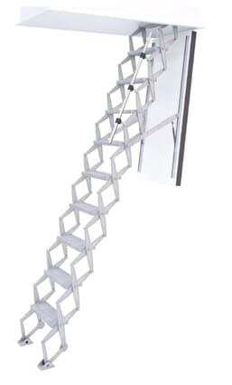 Exclusive Fire Rated Concertina Loft Ladder (Wooden Hatchbox)