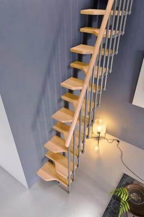 Gamia Mini Stair - Natural Beech treads + handrail