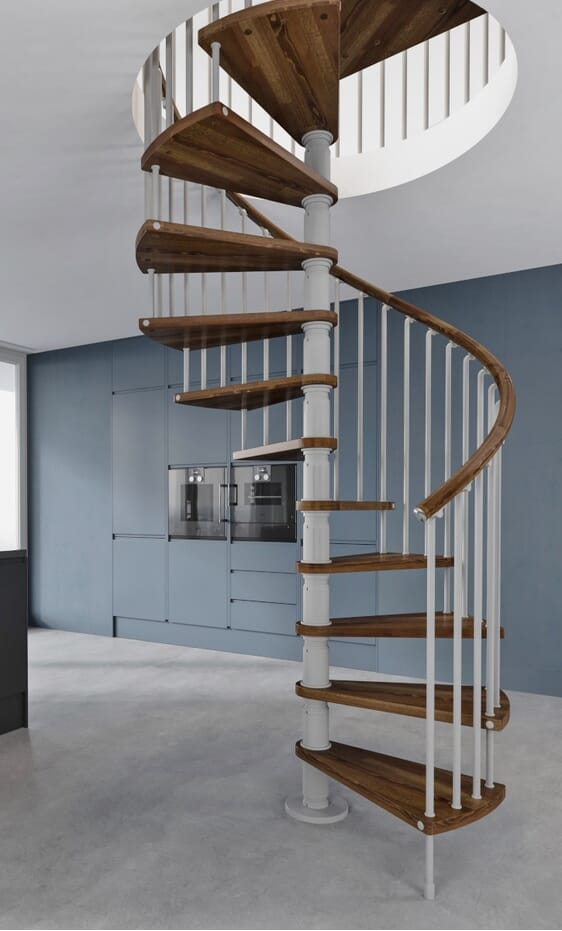 Misterstep Gamia Wooden Spiral Stair Kit 1600mm Loft Centre