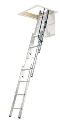 Abru Werner Hideaway 3 Section Aluminium Sliding Loft Ladder