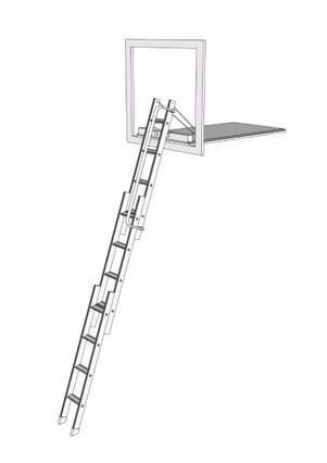 Loft Centre Mini Aluminium Sliding Vertical Carriage Ladder