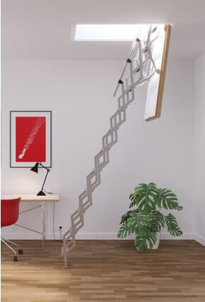 Columbus Mini F30 Fire Rated Concertina Loft Ladder