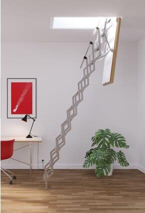 Columbus Mini F60 Fire Rated Concertina Loft Ladder