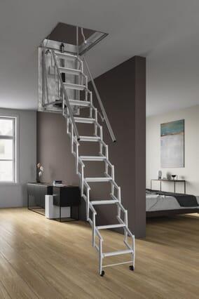 Motora Electric Steel Concertina Loft Ladder