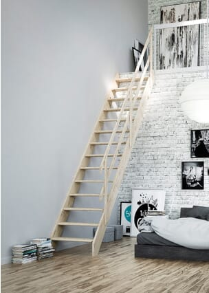 Dolle Normandie Stair Kit with Ranch Rail Balustrade
