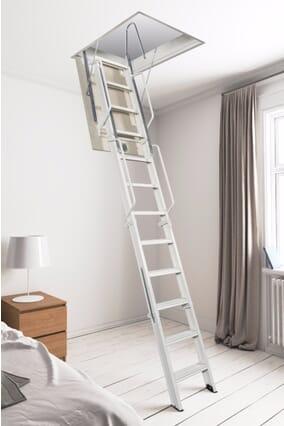 Fantozzi Quattro 4 Section Steel Folding Loft Ladder