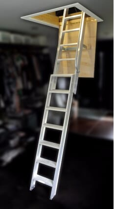 Ramsay 2 Section Aluminium Sliding Loft Ladder