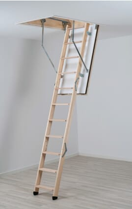 Dolle REI 45 Fire Rated Timber Folding Loft Ladder