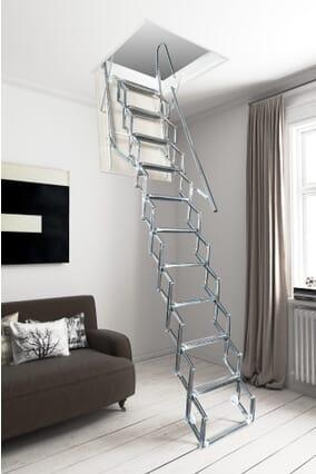 Fantozzi Svezia Concertina Loft Ladder