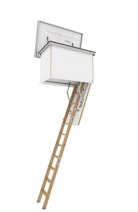 Columbus Flat Roof Wooden Folding Access Ladder